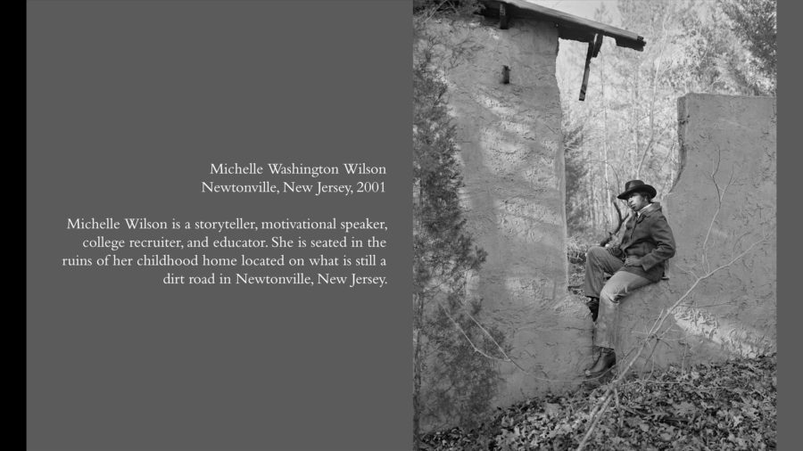 michelle wilson in ruin of childhood home w-text